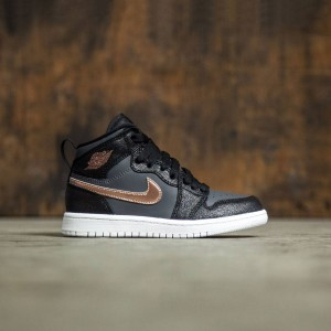 Air Jordan 1 Retro High (PS) Pre-School Little Kids (black / mtlc red bronze-dark grey-white)