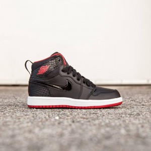 Air Jordan 1 Retro High Little Kids (black / white / gym red)