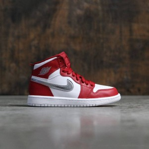 Air Jordan 1 Retro High (PS) Pre-School Little Kids (gym red / metallic silver-white)