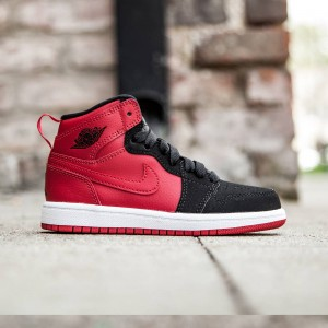 Air Jordan 1 Retro High BP Little Kids (red / gym red / black / white)