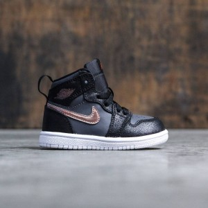 Air Jordan 1 Retro High (TD) Toddlers (black / mtlc red bronze-dark grey-white)