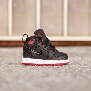 Air Jordan 1 Retro High Toddlers (black / white / gym red)