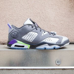 Air Jordan 6 Retro Low GG Big Kids (gray / ultra violet / ghost green)