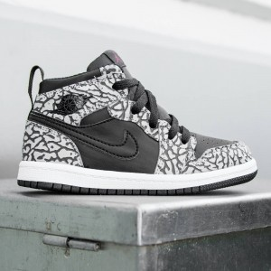 Air Jordan 1 Retro High Prem BT Toddlers (black / cement grey / anthracite / gym red)