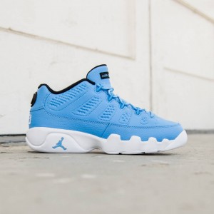 Air Jordan 9 Retro Low (GS) Big Kids (university blue / university blue-white)