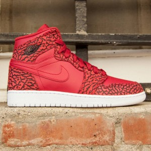 Air Jordan 1 Retro Hi Prem BG Big Kids (red / gym red / team red / white)
