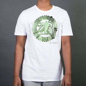 Jordan Men Jordan Pure Money Bank Note Tee (white)