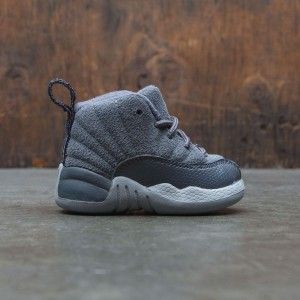 Jordan 12 Retro (TD) Toddler (grey / dark grey-wolf grey)
