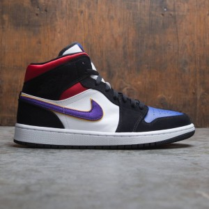 Air Jordan 1 Mid SE Men (black / field purple-white-gym red)