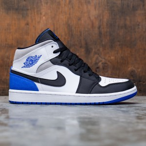 Air Jordan 1 Mid SE Men (white / hyper royal-black-lt smoke grey)