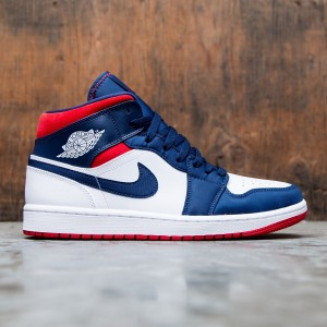 Air Jordan 1 Mid SE Men (white / university red-midnight navy)