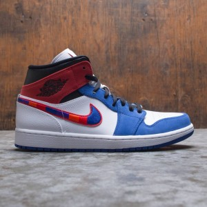 Air Jordan 1 Mid SE Men (white / university red-rush blue-black)