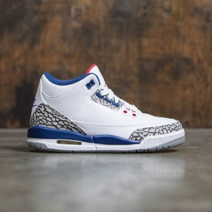 AIR JORDAN 3 RETRO OG BG True Blue Big Kids (white / fire red-true blue-cement grey)