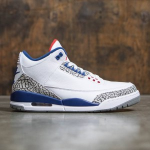 Air Jordan III Retro True Blue OG Men (white / fire red-true blue-cement grey)