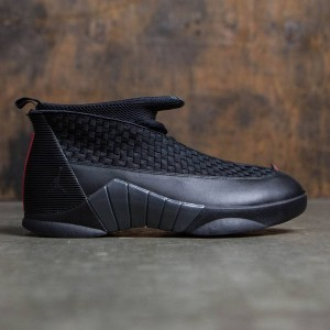 AIR JORDAN 15 RETRO Stealth Men (black / varsity red-anthracite)