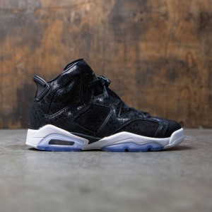 Air Jordan 6 Retro Premium Heiress Collection (GS) Big Kids Girls' (black / black-white-gym red)