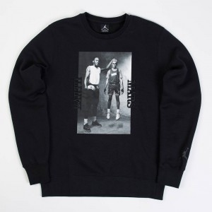 Jordan Men Sportswear Flight Fleece AJ3 Crewneck (black / black)