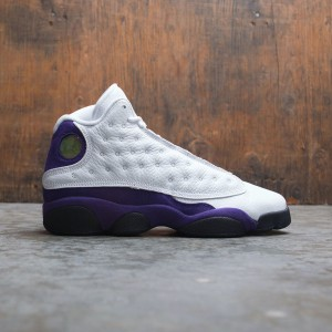 Air Jordan 13 Retro Big Kids (white / black-court purple-university gold)
