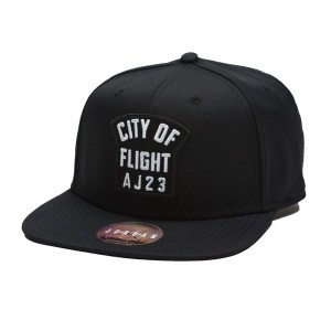 Jordan Men Unisex Jumpman Pro CITY OF FLIGHT Zip Cap (black / black / white)
