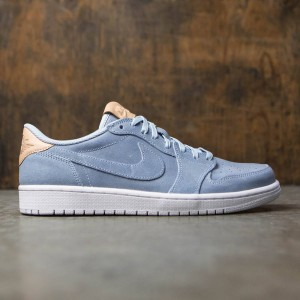 Air Jordan 1 Retro Low OG Premium Men (ice blue / vachetta tan-white)