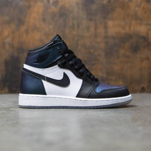 Air Jordan 1 Retro Hi OG AS BG All Star 2017 Big Kids (black / black-metallic silver-white)