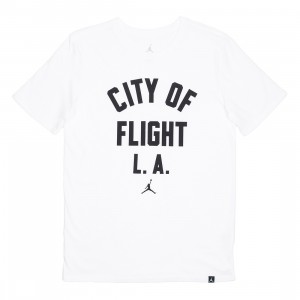 Jordan Men Sportswear CITY OF FLIGHT ZIP Code Tee (white / black)