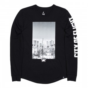 Jordan Men Sportswear CITY OF FLIGHT Photo Long-Sleeve Tee (black)