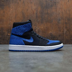 Air Jordan 1 Retro High Flyknit (GS) Big Kids (black / game royal-white)