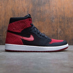 Air Jordan 1 Retro High Flyknit Men (black / varsity red-white)