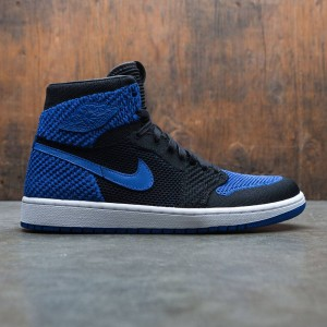 Air Jordan 1 Retro High Flyknit Men (black / game royal-white)