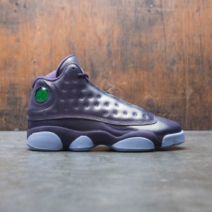 Air Jordan 13 Retro Premium Heiress Collection (GS) Big Kids Girls' (dark raisin / hydrogen blue-hydrogen blue)