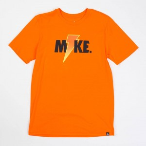 Jordan Men Sportswear Like Mike Lightning Tee (orange / safety orange)