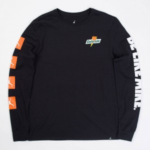 Jordan Men Sportswear Be Like Mike Long-Sleeve Tee (black)