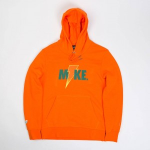 Jordan Men Sportswear Like Mike Fleece 2 Pullover Hoodie (orange / safety orange)