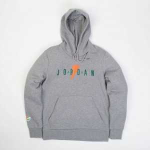 Jordan Men Sportswear Like Mike Fleece 3 Pullover Hoodie (grey / carbon heather)
