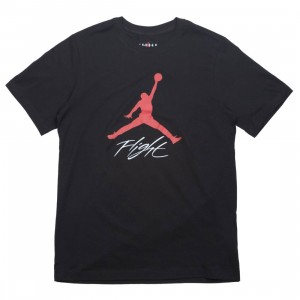 Jordan Men Jumpman Flight Tee (black / gym red)