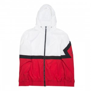 Jordan Men Sportswear Diamond Jacket (white / gym red / black / black)