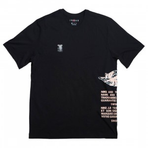 Air Jordan Label Tee Men (black / crimson tint / white)