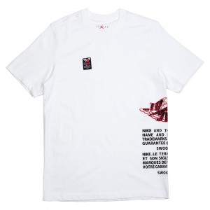 Air Jordan Label Tee Men (white / black / gym red)