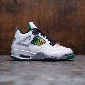 Air Jordan 4 Retro Women (white / black-university red-lucid green)