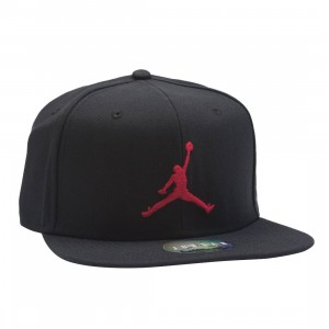 Jordan Men Pro Jumpman Snapback (black / black / gym red)