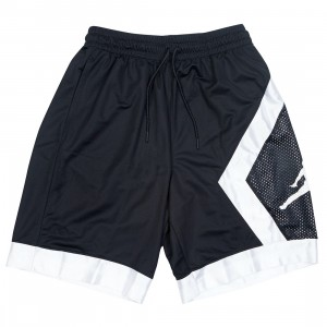 Jordan Men Jumpman Diamond Shorts (black / white / black / white)