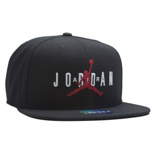 Jordan Men Dri-FIT Pro Jumpman Air Cap (black / black / black / gym red)