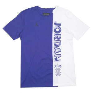 Jordan Men LGC AJ11 TOP Tee (germain blue / white / black)