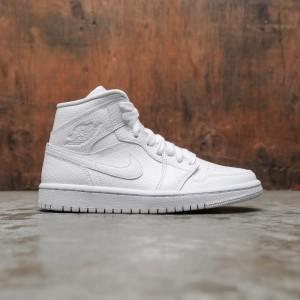 Air Jordan 1 Mid Women  (white / white)