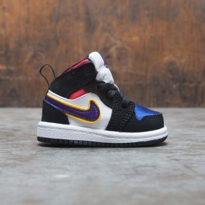 Jordan Toddlers 1 Mid SE (black / field purple-white-gym red)