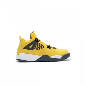 Jordan Little Kids 4 Retro (tour yellow / dark blue grey-white)