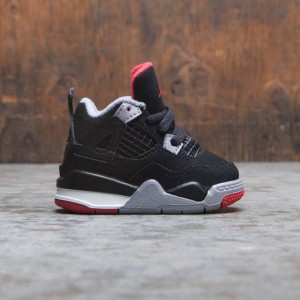 Jordan Toddlers 4 RETRO (black / fire red-cement grey-summit white)