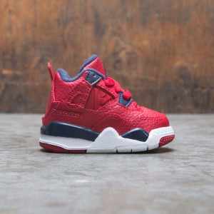 Air Jordan 4 Retro Toddlers (gym red / obsidian-white-metallic gold)