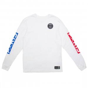 Jordan Men x Paris Saint-Germain Long Sleeves Tee (white / university red / hyper cobalt)